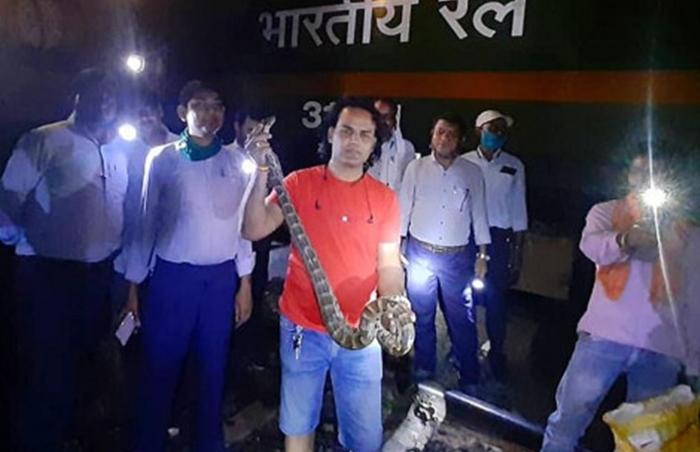 python stopped goods train