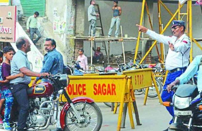 sagar traffic police