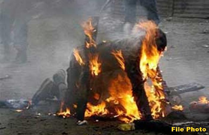 bamori youth burnt alive