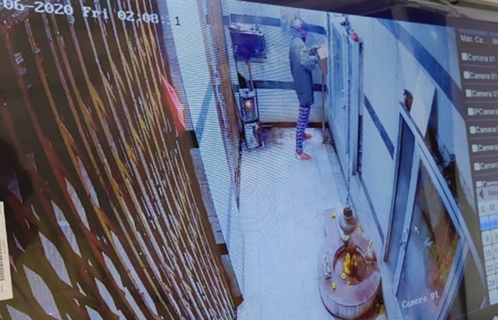 theft in temple cctv