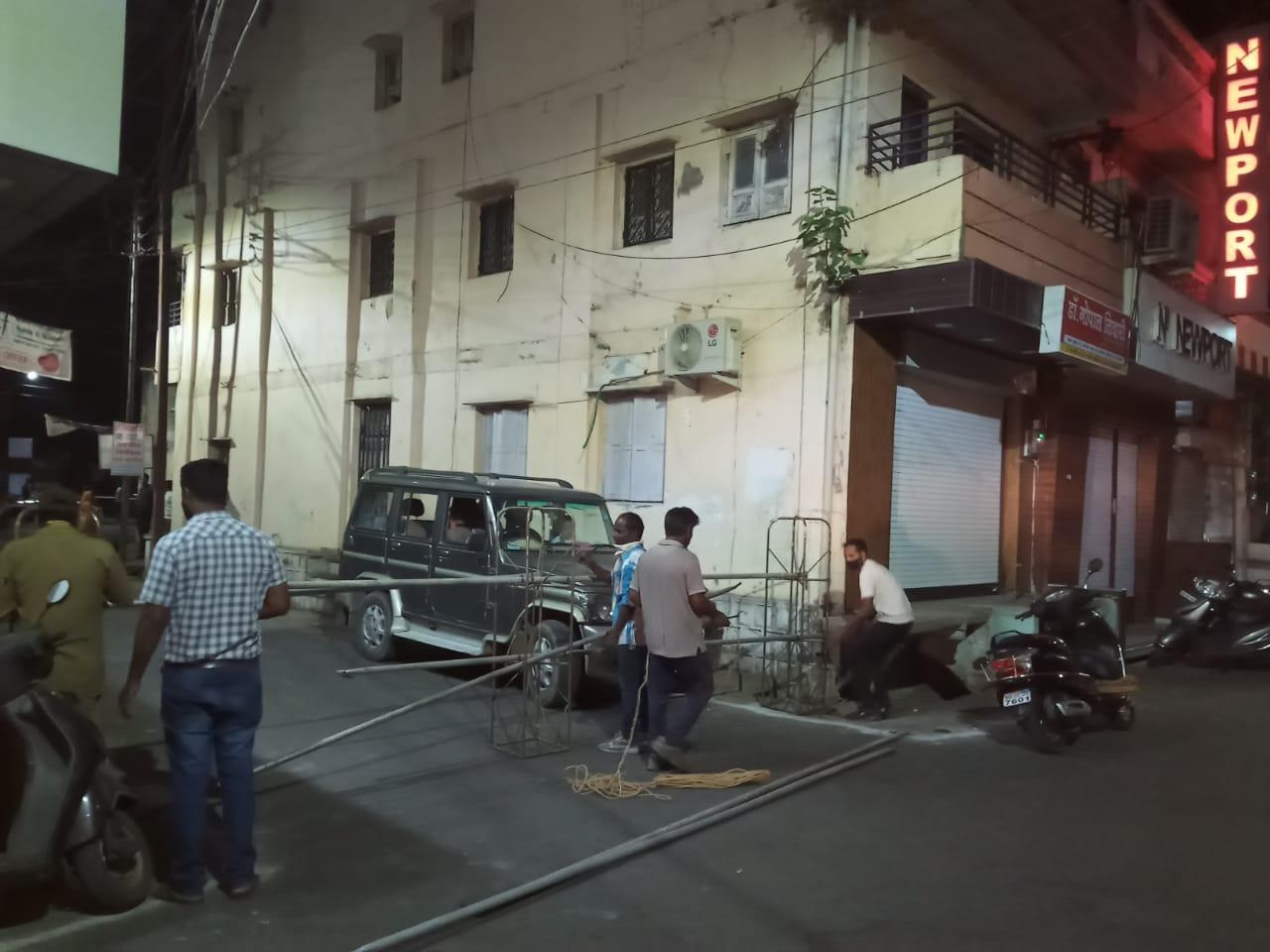 Mhow lockdown street